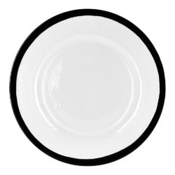 Bronte Black Rimmed Charger Plate