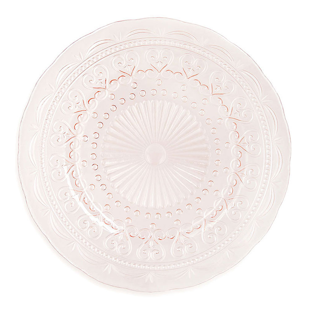 Amelie Vintage Blush Glass Charger Plate