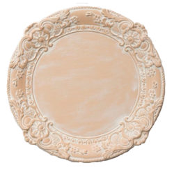 Leontine Pale Peach Charger Plate