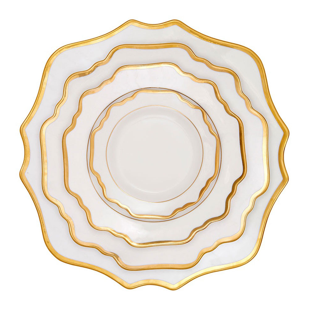 Etoile White and Gold Dinnerware Collection