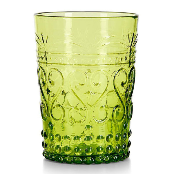 Green Glass Vintage Tumbler